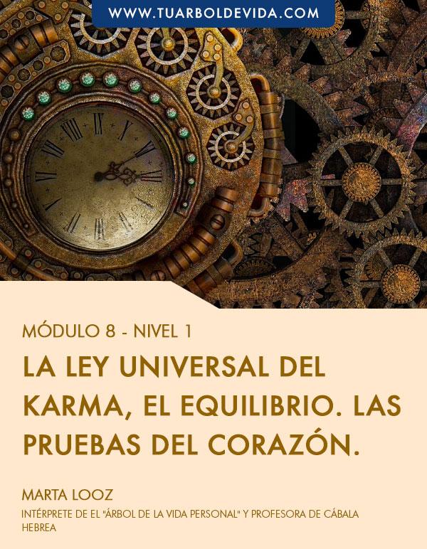 Módulo 8: La ley universal del karma, el equilibrio. Las pruebas del corazón.